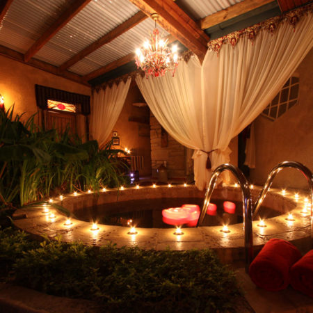 Indoor Garden and Plunge Pool