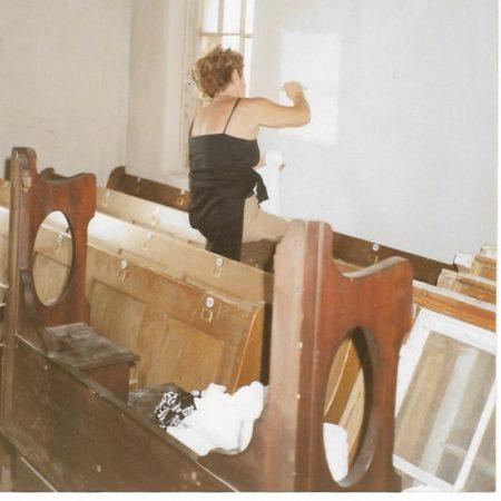 Gisela Alston sampling wall paint colours